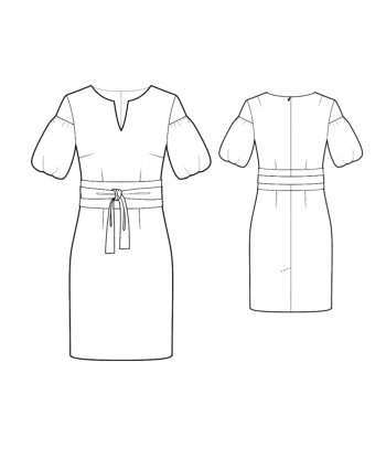 Custom-Fit Sewing Patterns - Puff Sleeve Dress