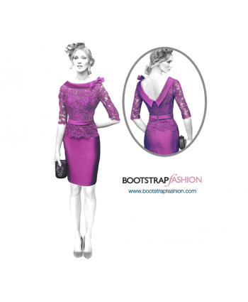 Custom-Fit Sewing Patterns - Back Opening Sheath