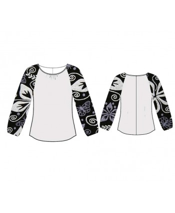 Custom-Fit Sewing Patterns - Raglan Sleeved Knit Top