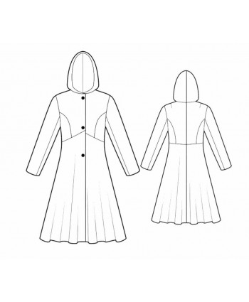 Custom-Fit Sewing Patterns - Peaked Empire Waist Coat