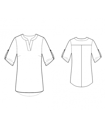 Custom-Fit Sewing Patterns - Mandarin Collar Tunic