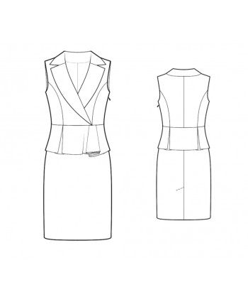 Custom-Fit Sewing Patterns - Vest imitation Sheath