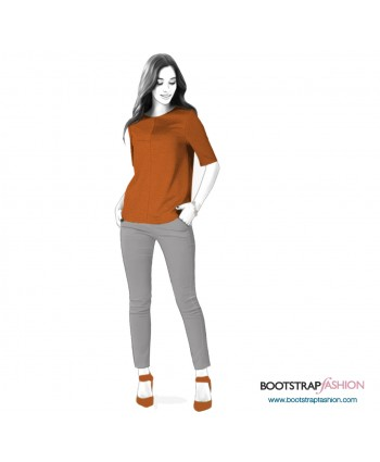 Custom-Fit Sewing Patterns - Short Sleeved Top