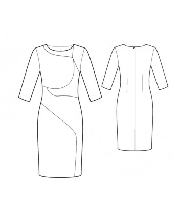 Custom-Fit Sewing Patterns - Color Blocked Sheath
