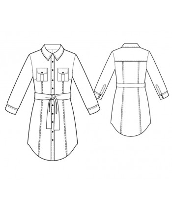Custom-Fit Sewing Patterns - Shirt Dress