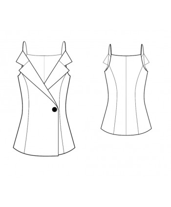Custom-Fit Sewing Patterns -Vest With Lapels
