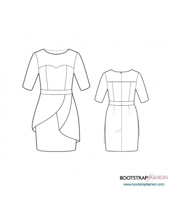 Custom-Fit Sewing Patterns -Sheath With Asymmetric Peplum