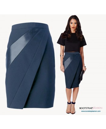 Custom-Fit Sewing Patterns - Skirt With Diagonal Seams