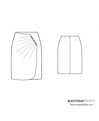 Custom-Fit Sewing Patterns - Wrap Skirt With Pleats