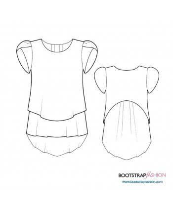 Custom-Fit Sewing Patterns - 2 Layers Tunic