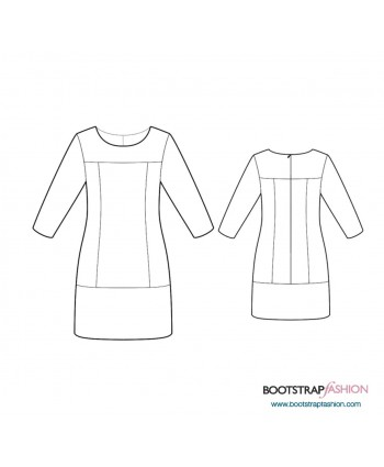 Custom-Fit Sewing Patterns - Dress With Front And Back Yokes