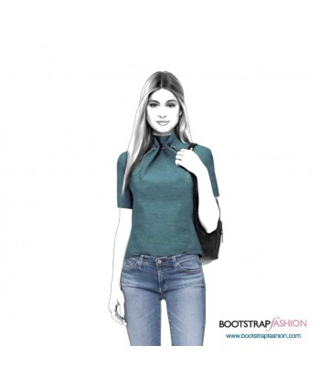 Custom-Fit Sewing Patterns - Top With Pleated Collar
