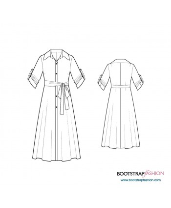 Custom-Fit Sewing Patterns - Button Down Shirt Dress