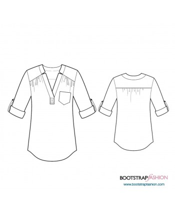 Custom-Fit Sewing Patterns - Tunic With Yoke