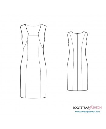 Custom-Fit Sewing Patterns - Sheath With Bolero Imitation
