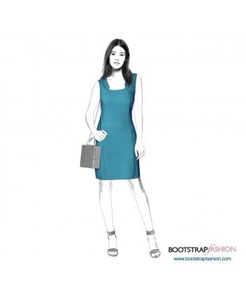 Custom-Fit Sewing Patterns - Sheath With Bolero Imitation