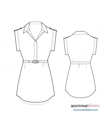 Custom-Fit Sewing Patterns - Tunic With Shirt Collar