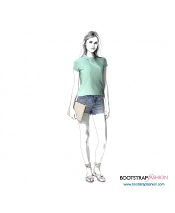 Custom-Fit Sewing Patterns - Blouse With Front Seams