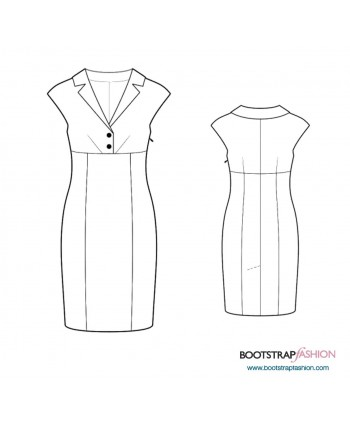 Custom-Fit Sewing Patterns - Sheath With Lapels