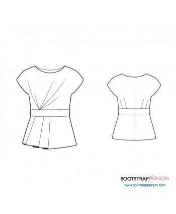Custom-Fit Sewing Patterns - Blouse With Peplum