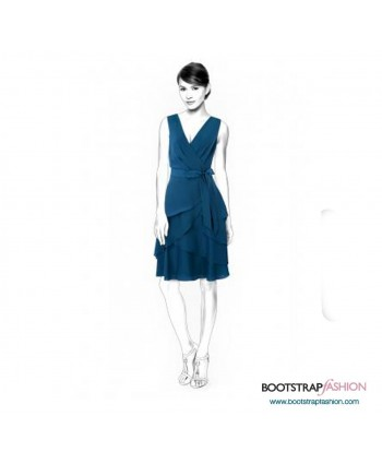 Custom-Fit Sewing Patterns - Dress With 3-Layered Skirt