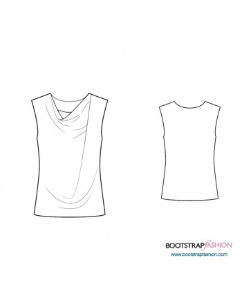 Custom-Fit Sewing Patterns - Sleeveless Blouse With Pleats