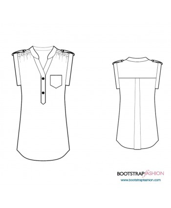 Custom-Fit Sewing Patterns - Tunic With Pleated Shoulders