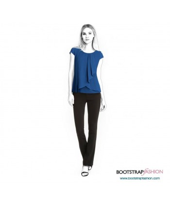 Custom-Fit Sewing Patterns - Blouse With Front Flyaway