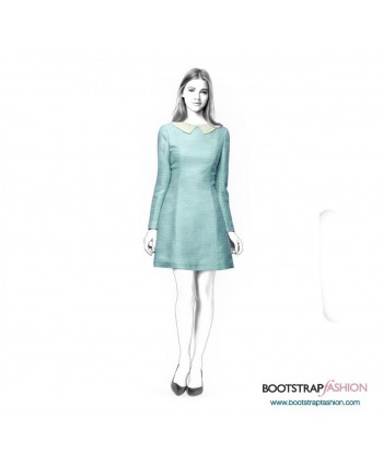 Custom-Fit Sewing Patterns - Princess Seams Dress With Sleeves