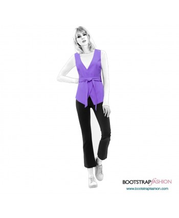 Custom-Fit Sewing Patterns - Vest With Belt