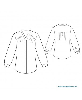 Custom-Fit Sewing Patterns - Blouse With Yokes