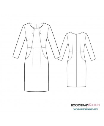 Custom-Fit Sewing Patterns - Sheath With Jacket Imitation