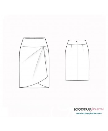 Custom-Fit Sewing Patterns - Asymmetrical Skirt with Yoke