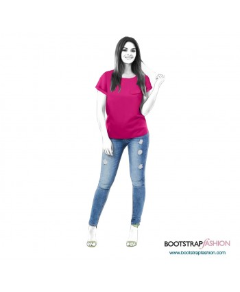 Custom-Fit Sewing Patterns - Tunic With Long Back
