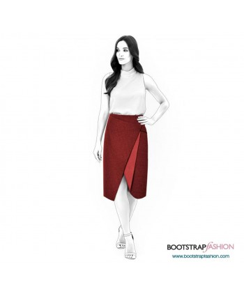 Custom-Fit Sewing Patterns - Asymmetrical Wrap Skirt