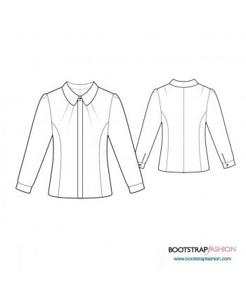 Custom-Fit Sewing Patterns - Blouse With Princess Seams