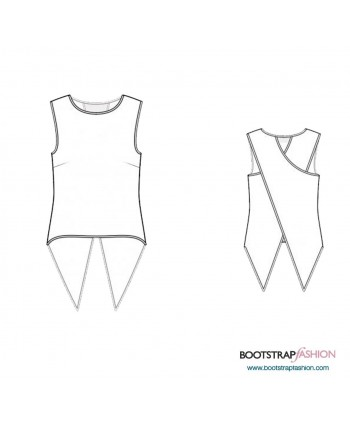 Custom-Fit Sewing Patterns - Top With 2-Layered Back