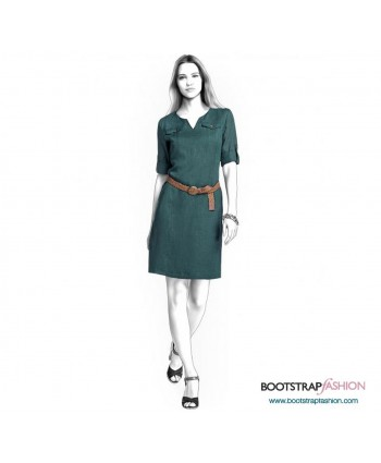 Custom-Fit Sewing Patterns - Short-Sleeved Sheath With Yokes