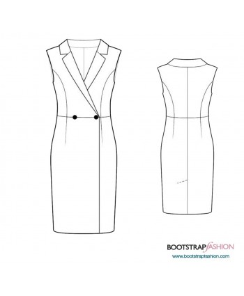 Custom-Fit Sewing Patterns - Sleeveless Sheath With Lapels