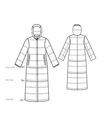 Custom-Fit Sewing Patterns - Girl's Puff Jacket 3-In-One Pattern