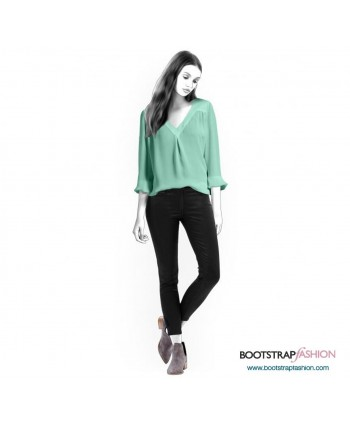 Custom-Fit Sewing Patterns - Blouse With V-Neckline