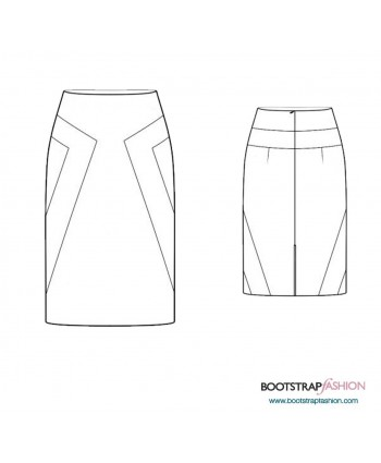 Custom-Fit Sewing Patterns - Color Block Skirt