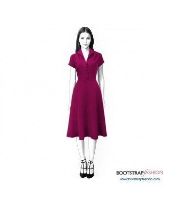 Custom-Fit Sewing Patterns - Dress With Short Sleeves