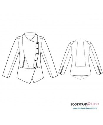Custom-Fit Sewing Patterns - Jacket With Draping