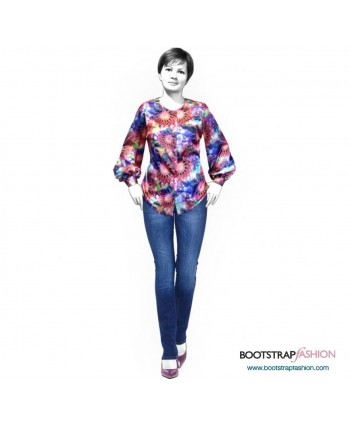 Custom-Fit Sewing Patterns - Blouse With Wide Sleeves