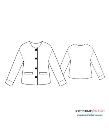 Custom-Fit Sewing Patterns - Jacket With Welt Pockets