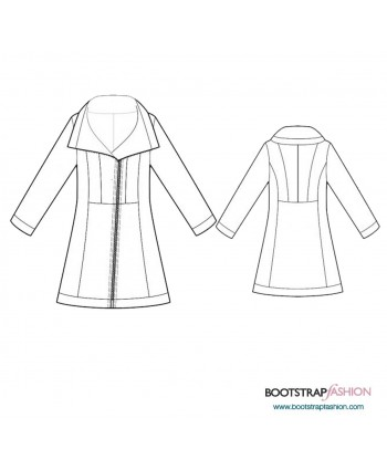 Custom-Fit Sewing Patterns - Fur Coat