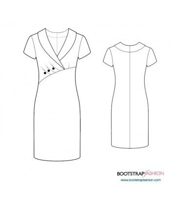 Custom-Fit Sewing Patterns - Knit Sheath With Pleated Front
