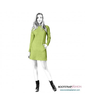 Custom-Fit Sewing Patterns - Knit Tunic With Decorative Seams