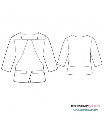 Custom-Fit Sewing Patterns - Blouse With Square Neckline